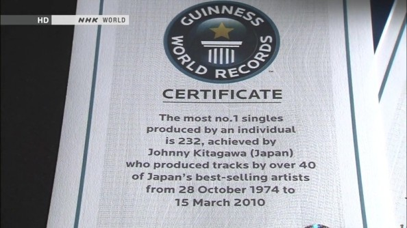 Guiness World Records Certificate (The Most No. 1 Single)