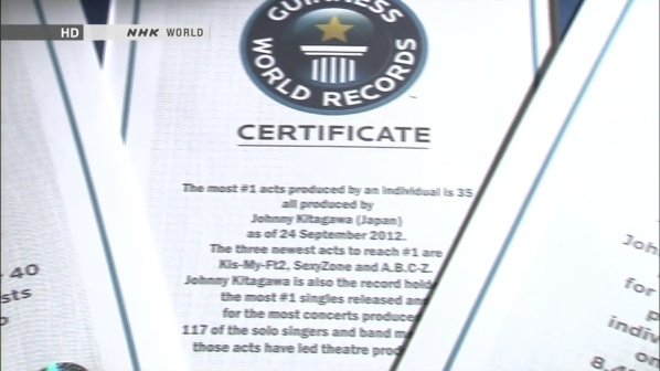 Guinness World Records Certificate (the most #1 acts)