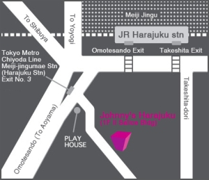 Johnny's Shop Map Harajuku