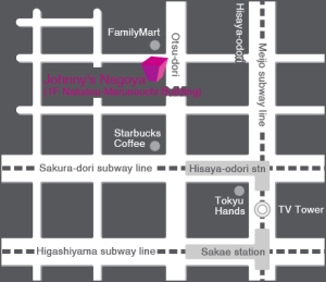 Johnny's Shop Map Nagoya